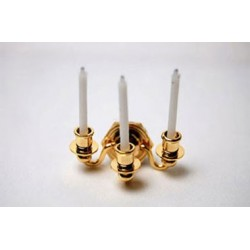 Brass 3 Candle Sconce