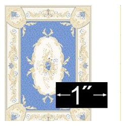 "Rug Aubusson Blue 1/4"" Scale"