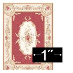 "Rug Aubusson Red 1/4"" Scale"