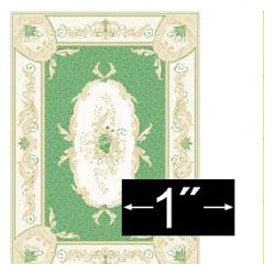 "Rug Aubusson Green 1/4"" Scale"