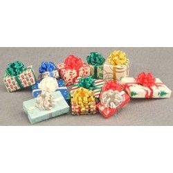 Asstd Christmas Gifts W Bow 12 Pk