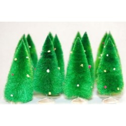 """(12) 4"""" Soft Chenille Trees"""
