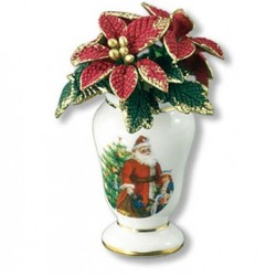 Holiday Poinsettia In Vase