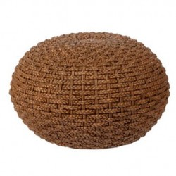 Resin Braided Wicker Ottoman