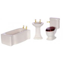 MODERN BATH SET 3/PC, WHITE