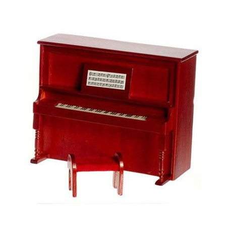 UPRIGHT PIANO, MAHOGANY