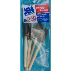 1 In Sponge Brush 4 Pk