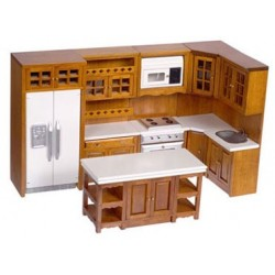 Walnut Chef's Kitchen Set