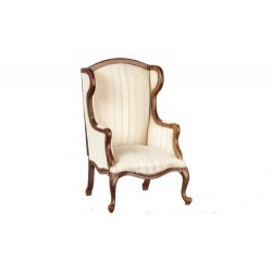 Q.A.WING CHAIR/WALNUT