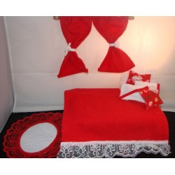 Red Lace Room in a Bag - Designer Bedroom