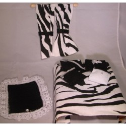 Zebra Stripe Room In A Bag- Designer Bedroom