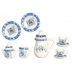 BLUE/GOLD TEA SET/10PCS