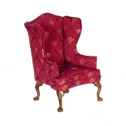 HiBack Chair Burgundy & Walnut