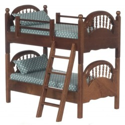 Spindle Bunk Bed/walnt/cb