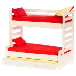 Bunkbed w/trundle/whit/cb