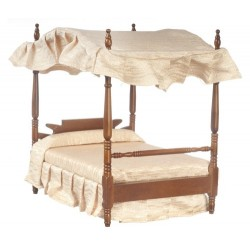 Double Canopy Bed/Walnut