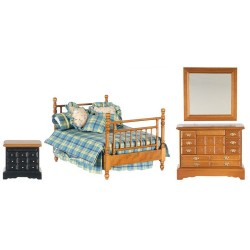 Double Bed Set/4/Walnut