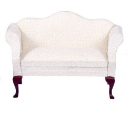 Sofa/Mahogany w/wh.fabric