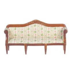 Sofa/floral/Walnut