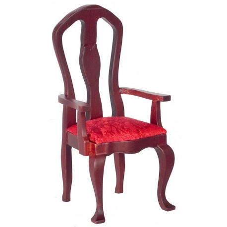 Super Queen Anne Armchair Purple Mahogany Dollhouse Arm Chairs Superior Dollhouse Miniatures Gmtry Best Dining Table And Chair Ideas Images Gmtryco