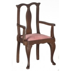 Armchair/Walnut/mauve