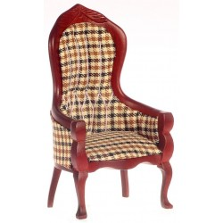 Victorian Gents Chair/plaid/ma