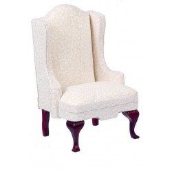 Chair/Mahogany w/wh.fab.