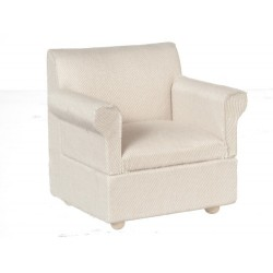 Armchair/white Fabric