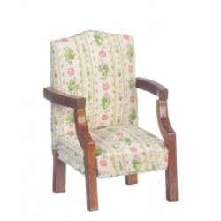 Chair/floral/Walnut