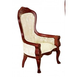 Victorian Gent's Chair/wht/cb