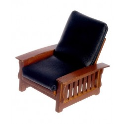 Chair/blk.leather/Walnut