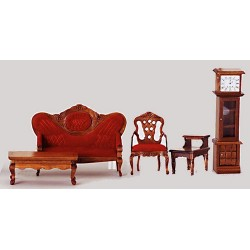 Victorian Living Room/5/red/Walnut