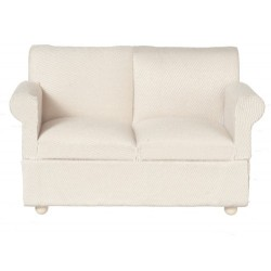 Loveseat/white Fabric