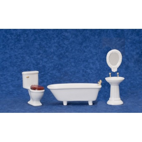 4pc Artdeco Bath/white