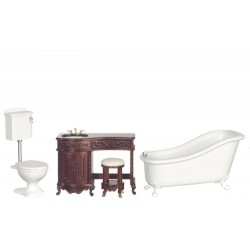 Avalon Bath Set/3/Mahogany