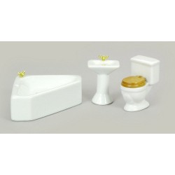 Corner Bath Set/white