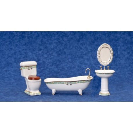 Porc.bath Set/4/gr.trm