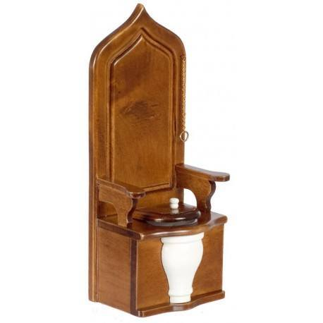 Toilet Throne/Walnut