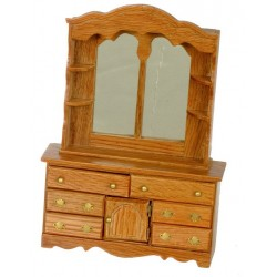 Dresser w/mirror/dark Oak