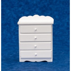 4-drawer Chest/white w/de