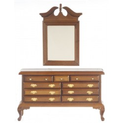 Dresser w/mirror/Walnut