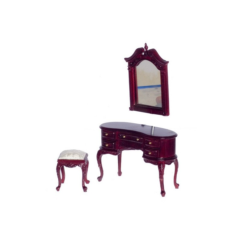 Queen Anne Dressing Table W Mirror Amp Bench Dollhouse