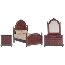 Walnut York Bedroom Set/3