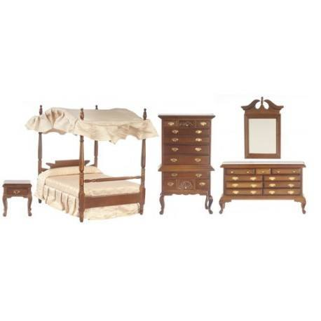 bedroom set 5 walnut dollhouse bedroom sets superior dollhouse