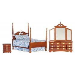 Victorian Double Bed Set/3/Walnut