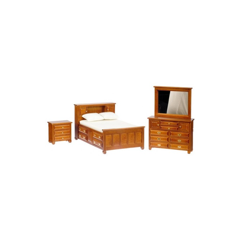 bedroom set 3 waln dollhouse bedroom sets superior dollhouse