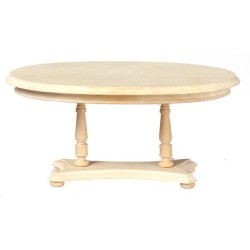 Oval Pedestal Table/unfin