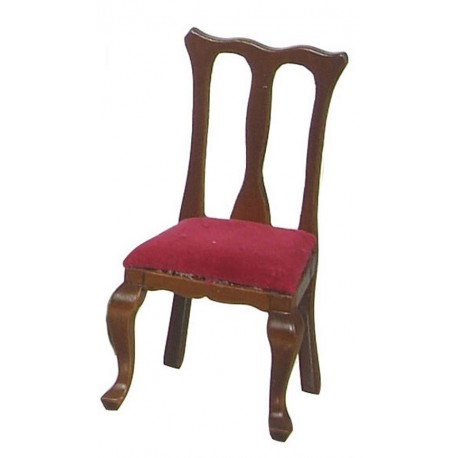 Queen Anne Side Chairs/red/wal/4