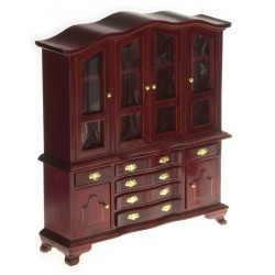 Hutch w/glass Doors/Mahogany