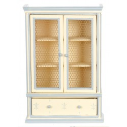 Hutch/white/blue Trim